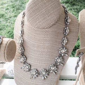 Swept Away crystal statement necklace
